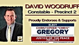 Chris Gregory Endorsement by Precinct 2 Constable, David Woodruff