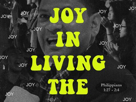 FINDING JOY IN LIVING THE GOSPEL