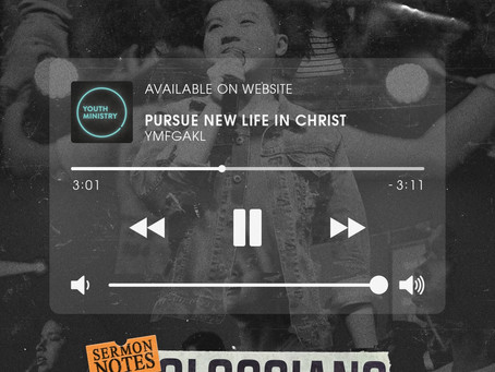 PURSUE A NEW LIFE IN CHRIST