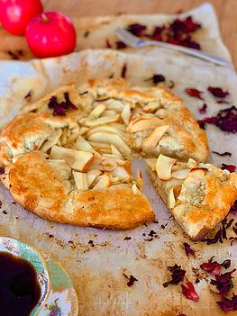 tarta de manzanas con crema de almendras