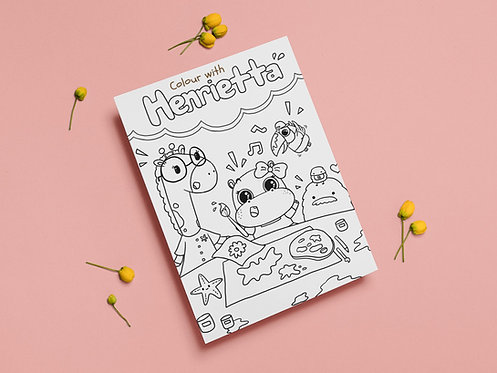 Colour with Henrietta - Colouring Page