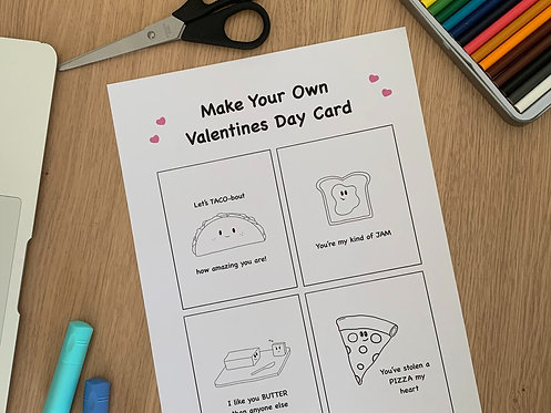 Make Your Own Valentines Day Card - Printable #2