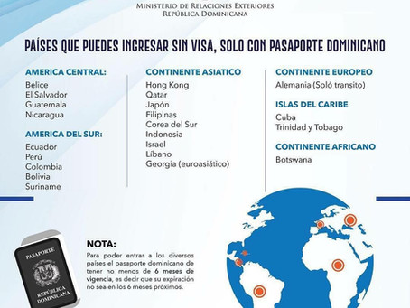 Visa-free Countries with Dominican Passport