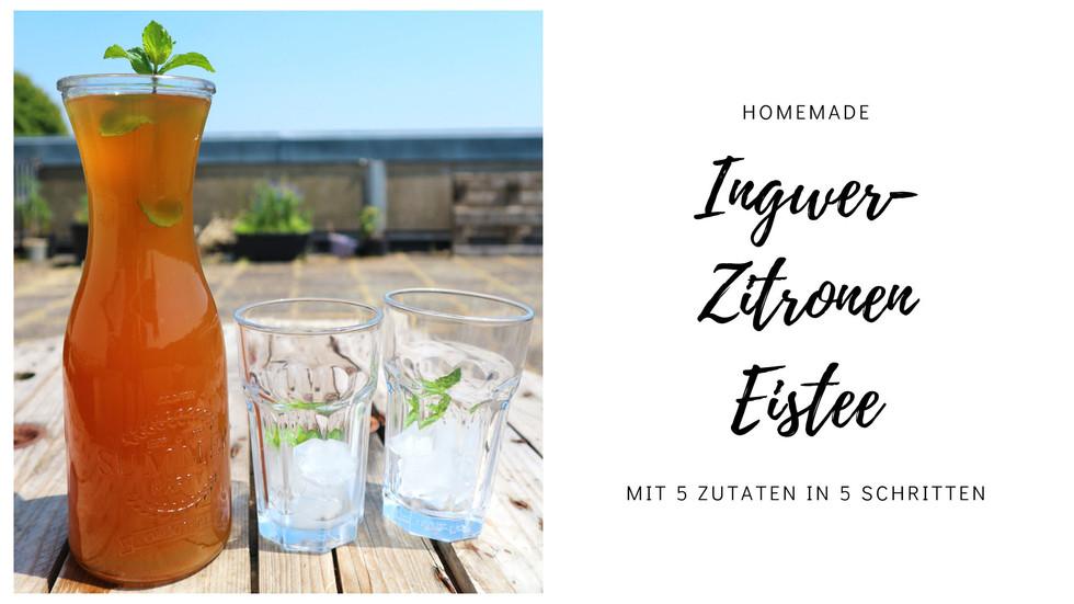 Homemade Ingwer-Zitronen Eistee
