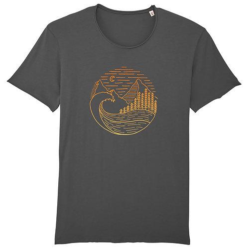 """Fairtrade Shirt """"Waves, Woods & Mountains"""""""