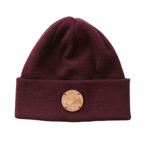 Merino Mütze mit Holz Patch