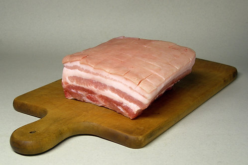 Cornish Saddleback Pork Belly per 100g
