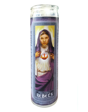 Pop Saints Carrie Fisher Candle