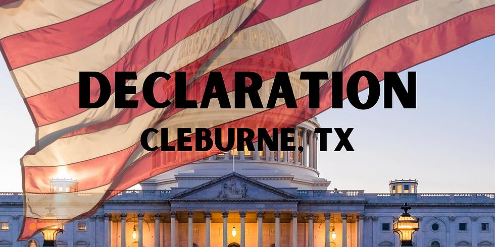 Declaration - Cleburne, Tx