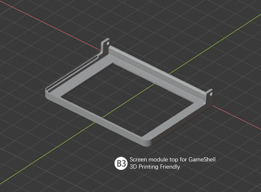 3D Printing File For Screen Module Up Shell Is Here