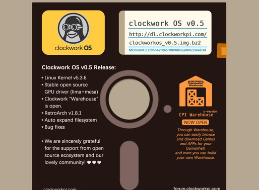 Clockwork OS v0.5 is ON!