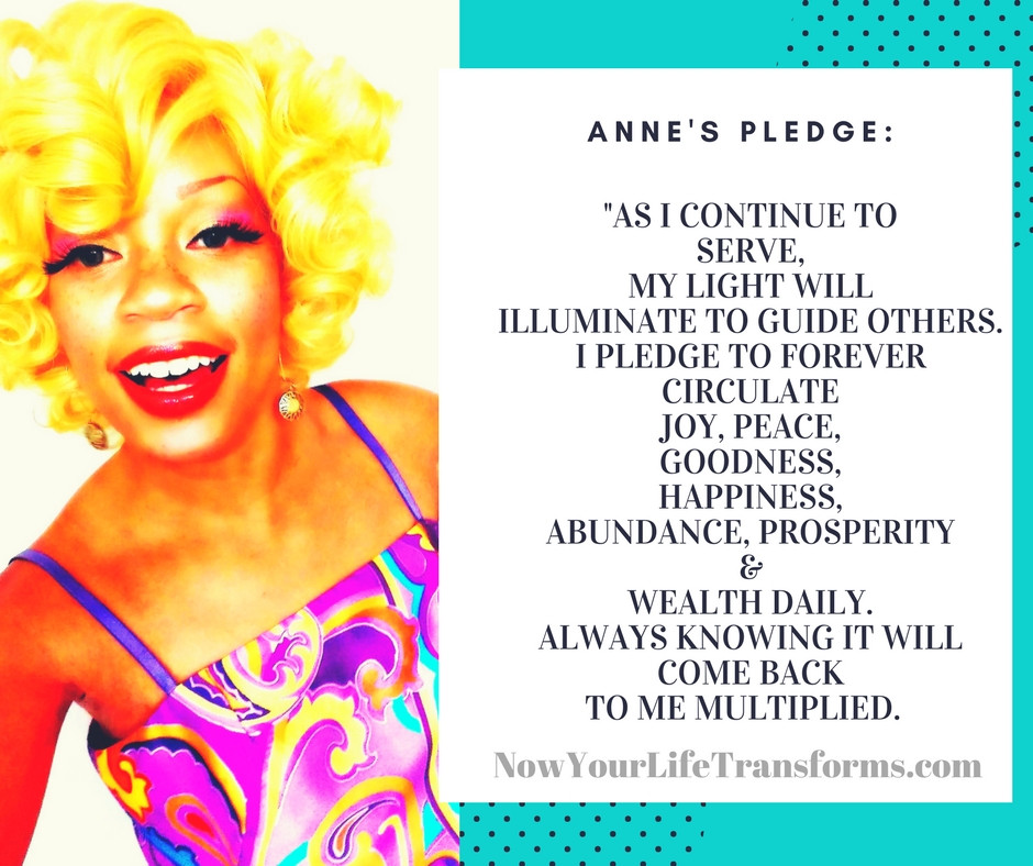 Anne's Pledge...What's Yours?