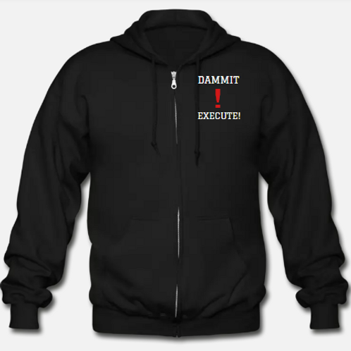 DAMMIT! EXECUTE! Sports Heavyweight Unisex Zip Hoodie