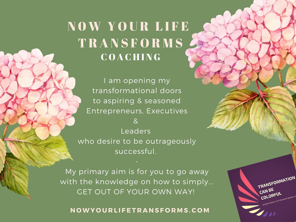 I am opening my Transformational Doors...Come In.