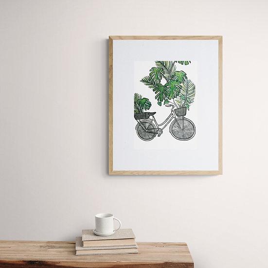 Jungle Bicycle Giclée Print