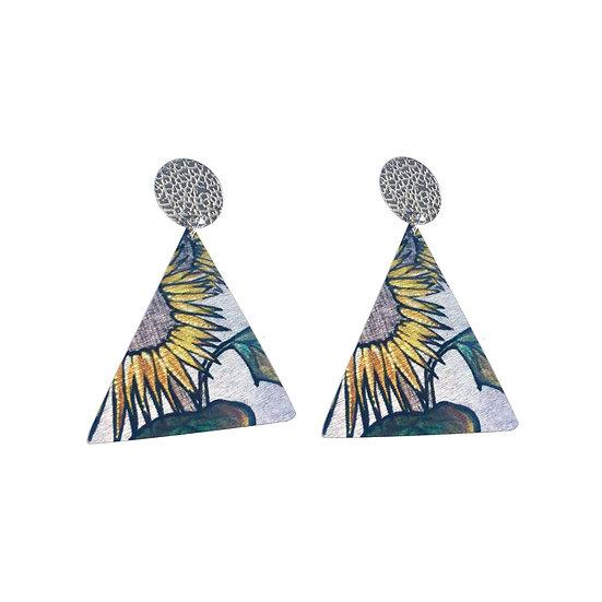 'Sunflowers' Design Earrings