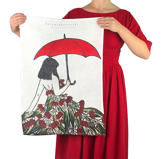 'Gumnut Dancer' Design Linen Tea Towel