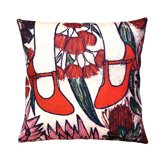 'Red Shoes' Design Cushion