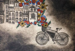 Lisboa Bicycle Triptych #3