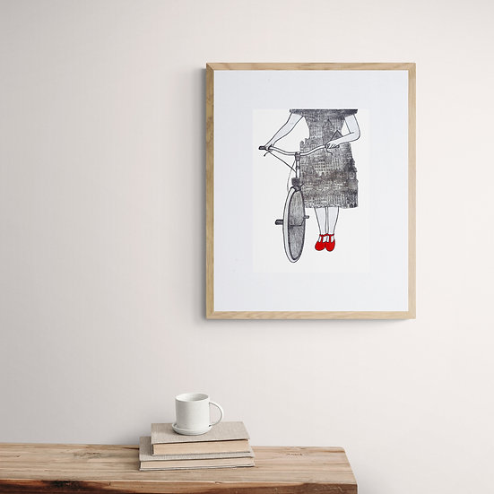 'The Travelling Artist' Giclée Print