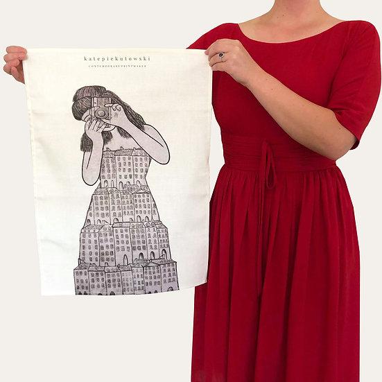 'I'll Remember You In My Dreams' Design Tea Towel