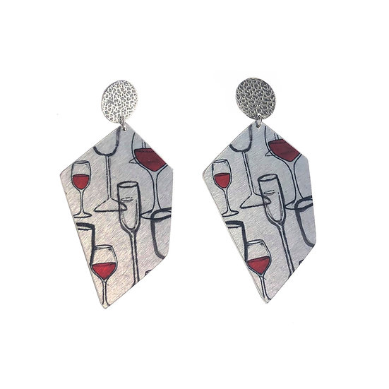 'Wine Glasses' Design Earrings