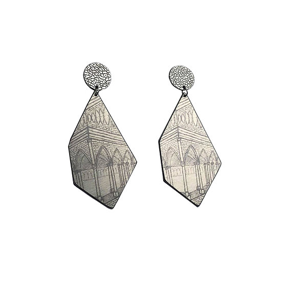 'Grey Gothic' Earrings