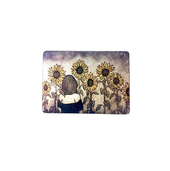 Sunflower Field Brooch