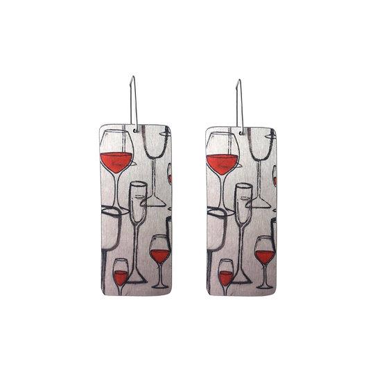 'Wine Glass Design' Earrings