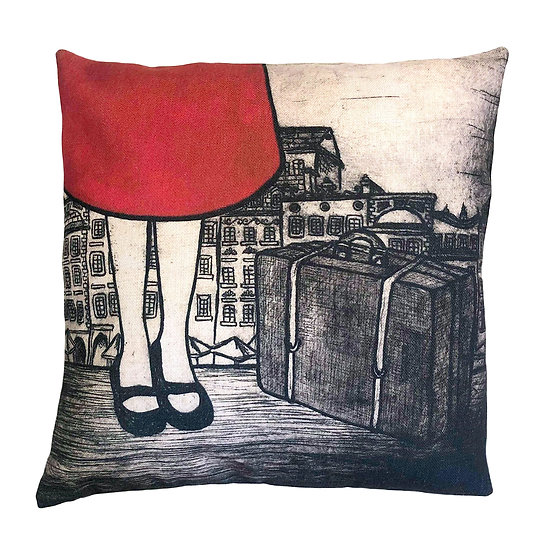 'Little Traveller' Design Cushion