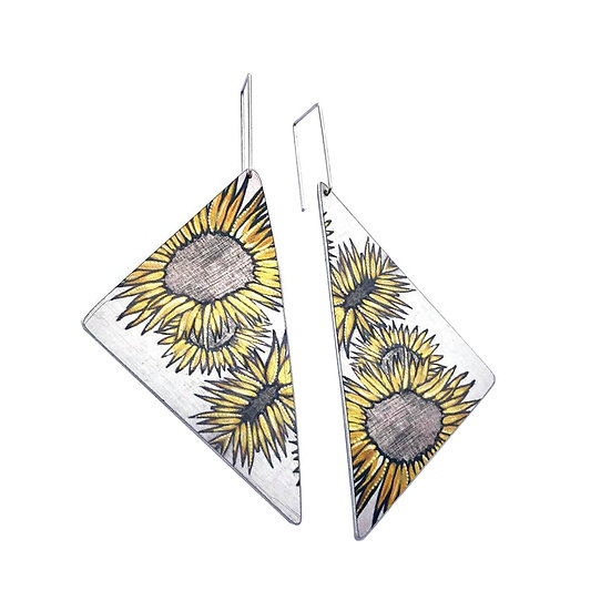 'Sunflowers' Design Earrings