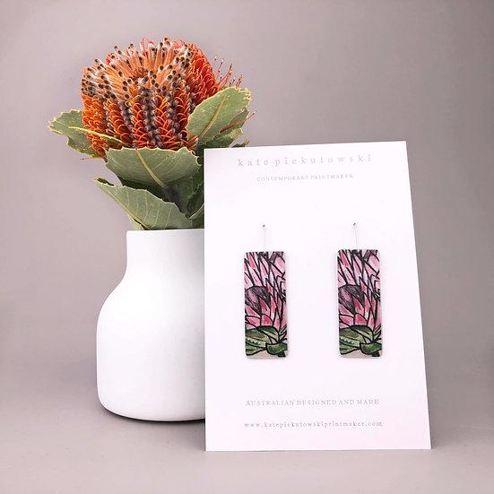 'Protea Rectangles' Earrings
