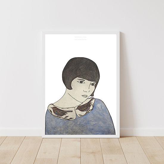 Nostalgic Girl Giclée Print