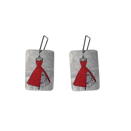 'Red Mannequin' Earrings