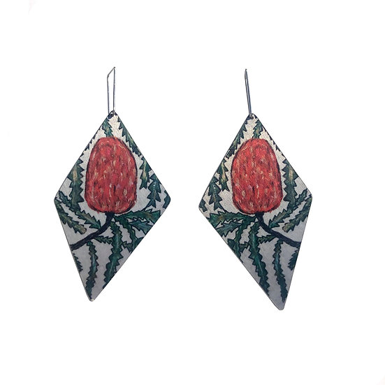 'Native Banksia' Design Earrings