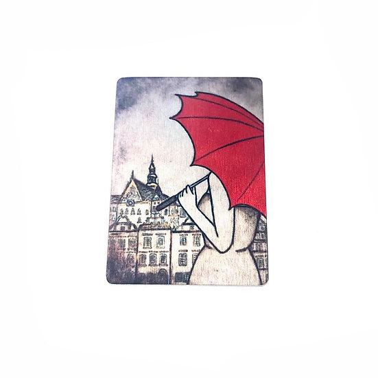 Warsaw In The Rain Brooch