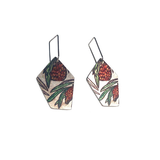 'Protea' Design Earrings
