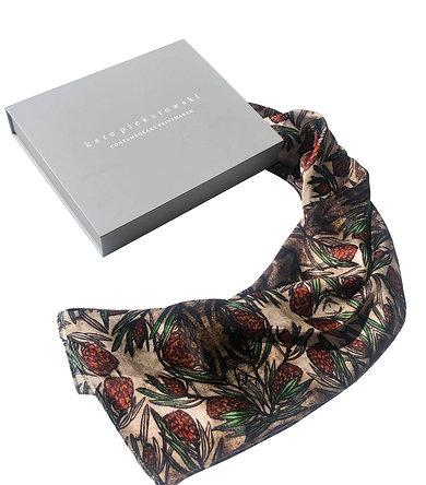 Protea Design Silk Scarf