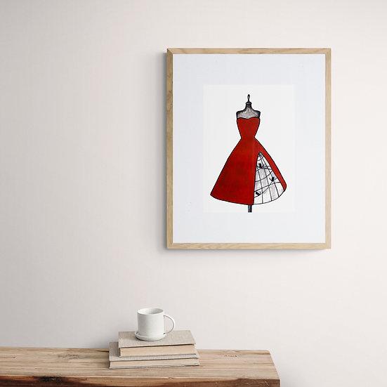 'Red Mannequin' Giclée Print