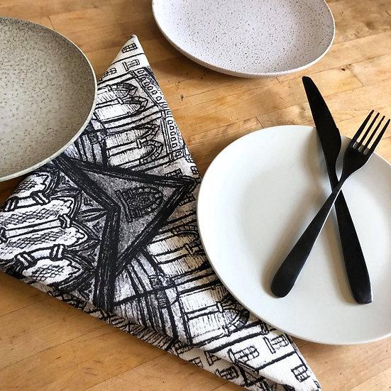 'Black and White Architecture Design' Napkin set of 2