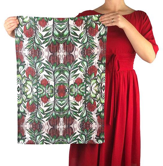 'Banksia' Design Linen Tea Towel