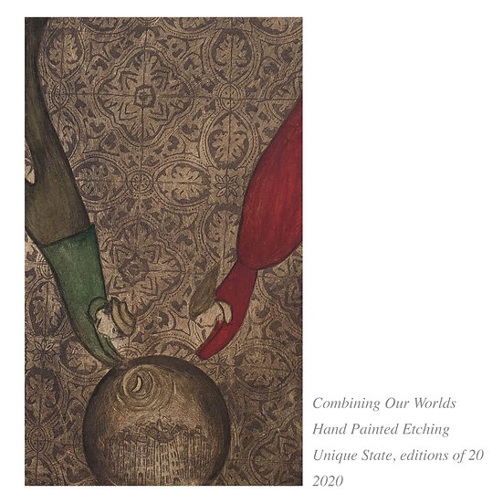 SALE 'Combining Our Worlds' Etching
