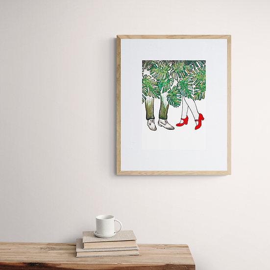 'Monstera Dreamers' Giclee Print