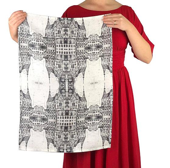 Black And White Architecture Tea Towel