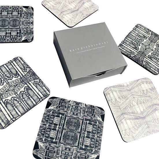Architectural Design Coaster Set of 6