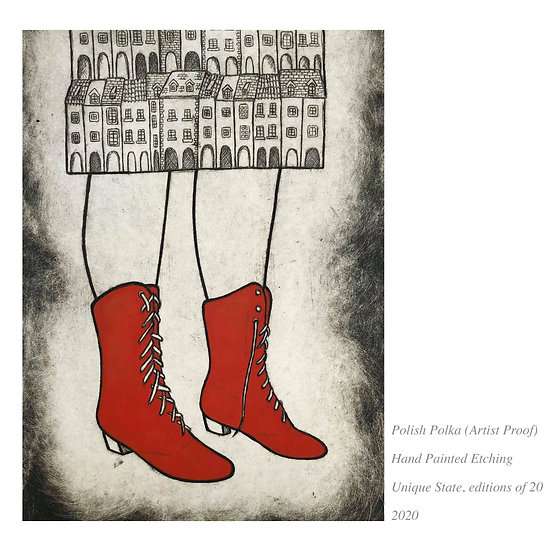 SALE 'Polish Polka AP' Etching