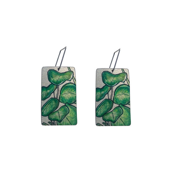 'Fiddle Leaf Fig' Design Earrings