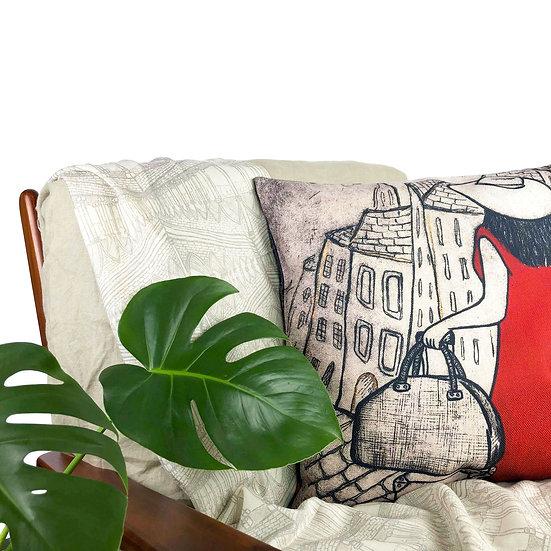 'The Traveller' Design Cushion