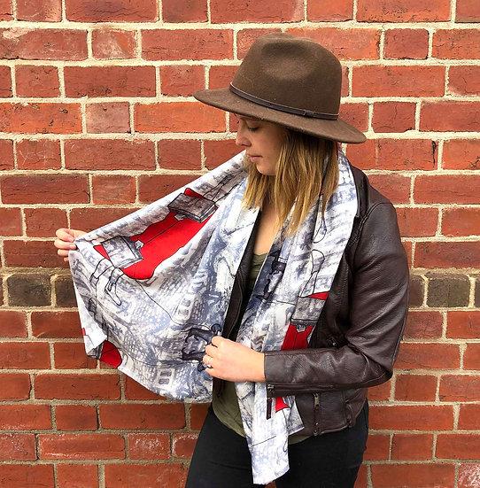 'An Artist's Burden' Silk Scarf