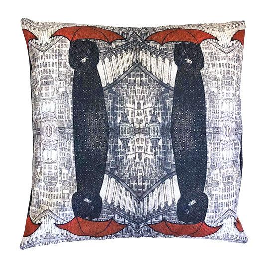 'Red Umbrella's' Design Cushion